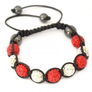red-and-white-shamballa-disco-ball-crystal-beads-bracelet-macrame-cord-magnetite-beads-bracelet-uk