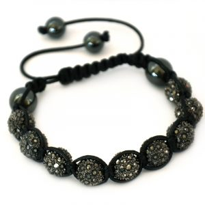 grey-shamballa-disco-ball-crystal-beads-bracelet-macrame-cord-magnetite-beads-bracelet-uk