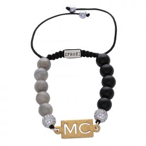 personalised-custom-initials-black-agate-moonstone-natural-stone-beaded-bracelet-for-men-him
