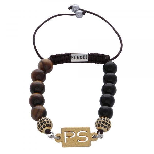 personalised-custom-initials-black-agate-gold-tiger-eye-natural-stone-beaded-bracelet-for-men-him