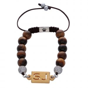 personalised-custom-initials-gold-tiger-eye-natural-stone-beaded-bracelet-for-men-him