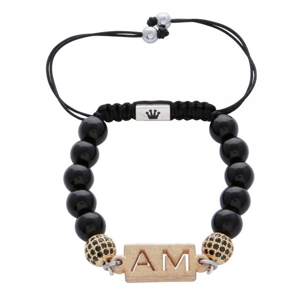 personalised-custom-initials-black-agate-natural-stone-beaded-bracelet-for-men-him