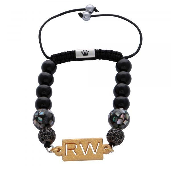 personalised-custom-initials-black-agate-natural-stone-beaded-beads-abalone-shell-bracelet-for-men-him