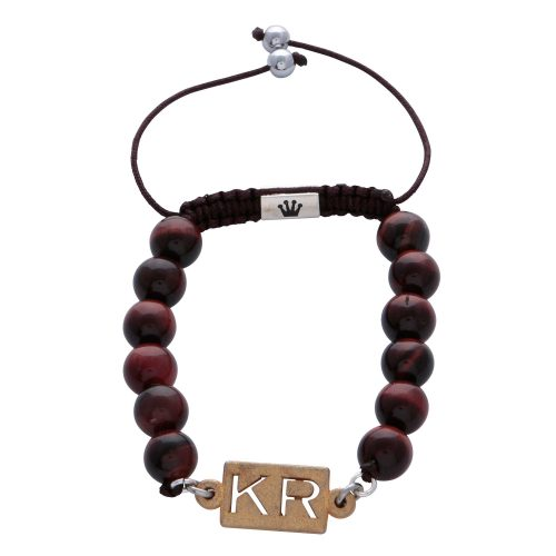 personalised-custom-initials-red-tiger-eye-natural-stone-beaded-bracelet-for-men-him