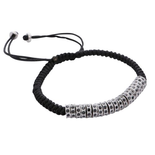 silver-spacers-stoppers-black-rhinestone-stainless-steel-macrame-bracelet-for-men