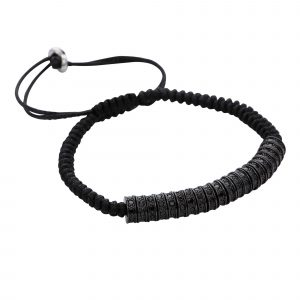 Rhodium-spacers-stoppers-stainless-steel-black-rhinestone-macrame-bracelet-for-men