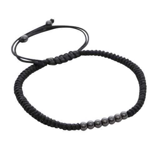 rhodium-plated-stainless-steel-black-macrame-bracelet-for-men