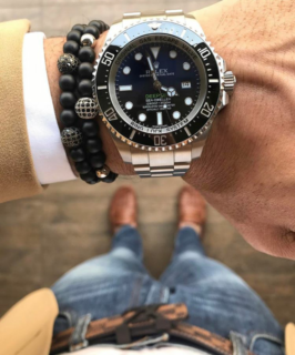 guys-wearing-beaded-bracelets-with-rolex
