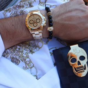 gold-skull-stainless-steel-black-mens-macrame-black-agate-beaded-bracelets-uk