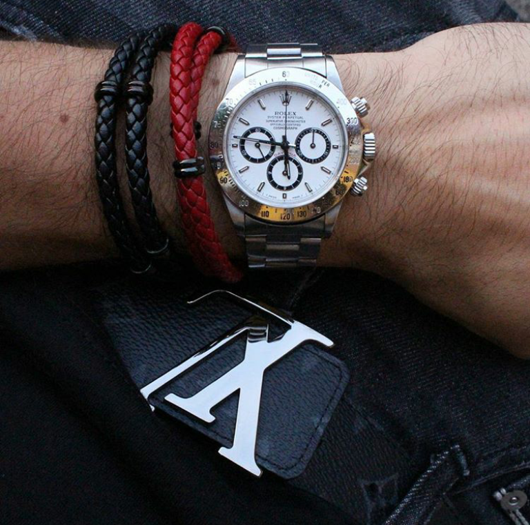 mens-black-and-red-leather-bracelets