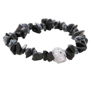 silver-skull-stainless-steel-black-mens-stretchy-snow-stone-natural-stone-mens-beaded-bracelets-uk