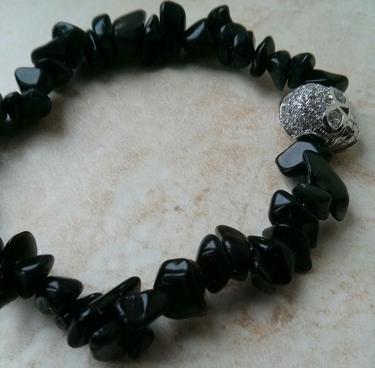 silver-skull-stainless-steel-black-mens-stretchy-black-obsidian-natural-stone-mens-beaded-bracelets-uk
