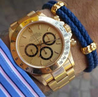 Mens-leather-bracelet-with-rolex-watch