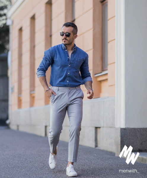 style-mens-denim-shirt-with-trousers-chinos-smart-casual-mens-wear