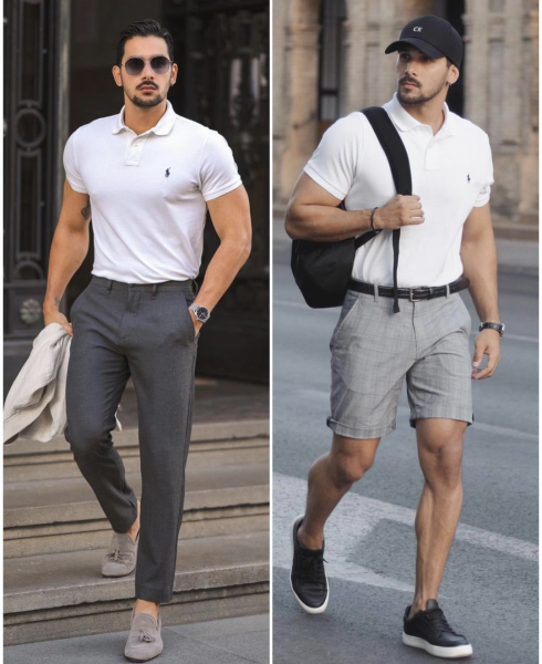 how-to-wear-polo-shirt-with-trousers-smart-shorts-with-polo-shirt-mens-classy-business-look