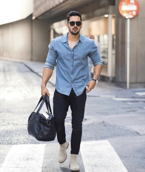 styling-mens-denim-shirts-with-pants-chinos-jeans
