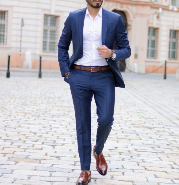 mens-classy-style-business-professional-blue-suit-brown-shoes