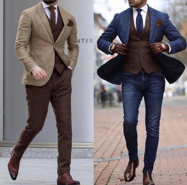 brown-suit-contrast-waistcoat-with-jacket-and-trousers-mens-fashion-style