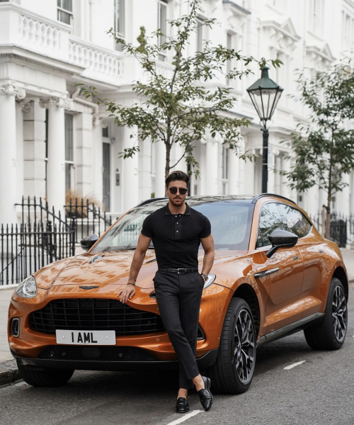 black-polo-shirt-trousers-loafers-how-to-style-mens-outfit-trends-uk-london-fashion-