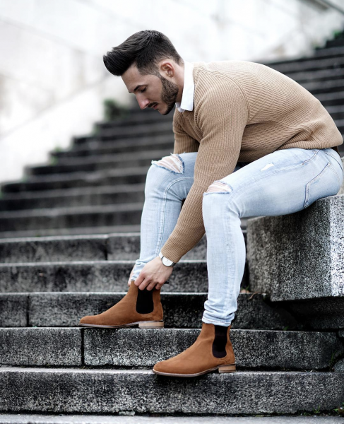 beige-sweater-denim-jeans-boots-mens-fashion-casual-look-trends